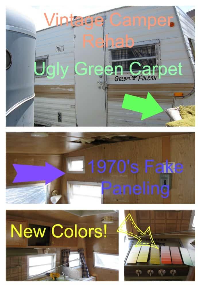 Vintage Camper Remodel Family Project