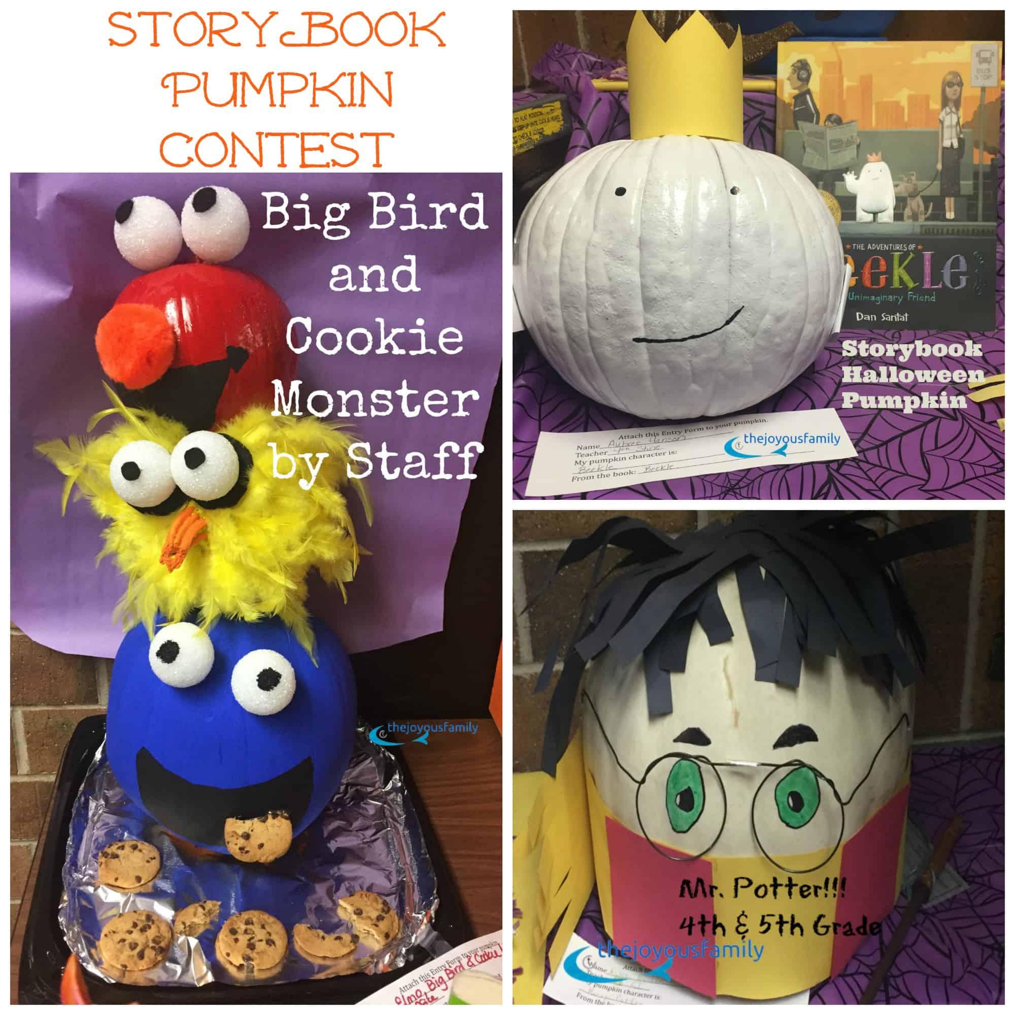 storybook pumpkin collage