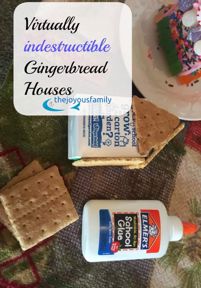 No Bake Easy Gingerbread Houses for Toddlers