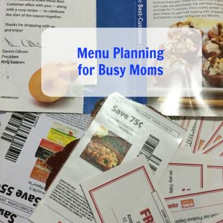 Menu Planning Time Savers for Busy Moms