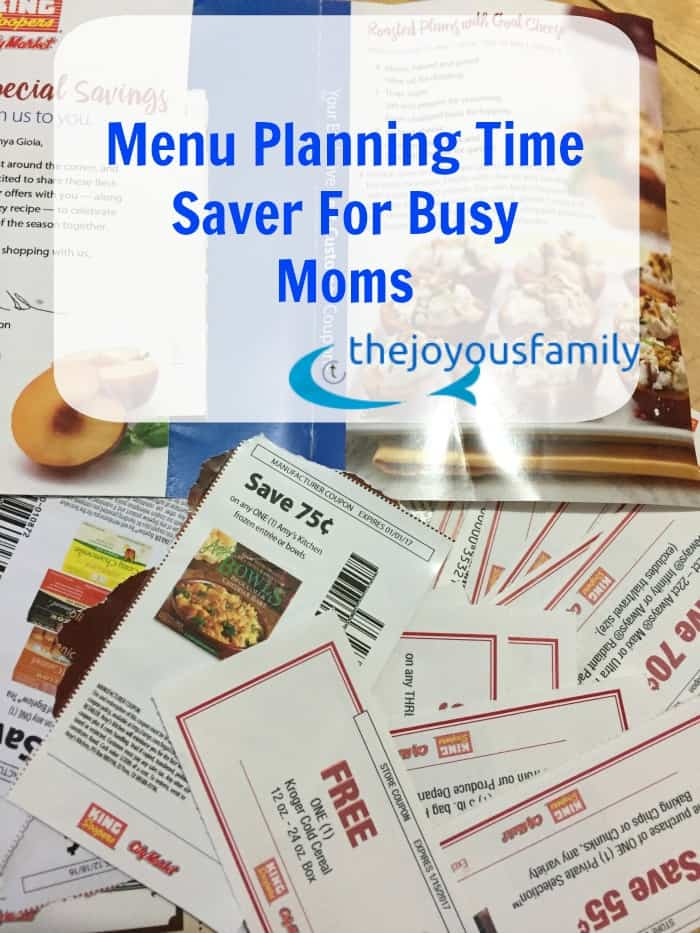 MENU planning do busy moms
