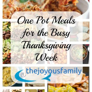 One Pot Meals for Thanksgiving Week Guests