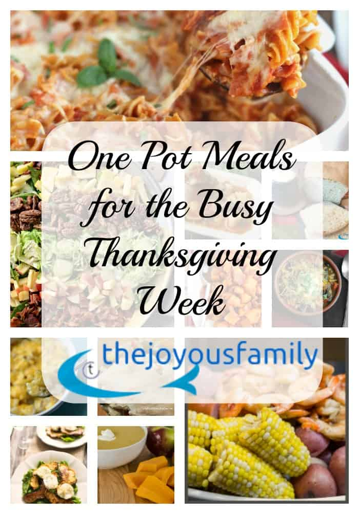 one pot meals for thanksgiving guests