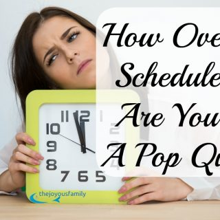 How Over-Scheduled Are You?  A Pop Quiz