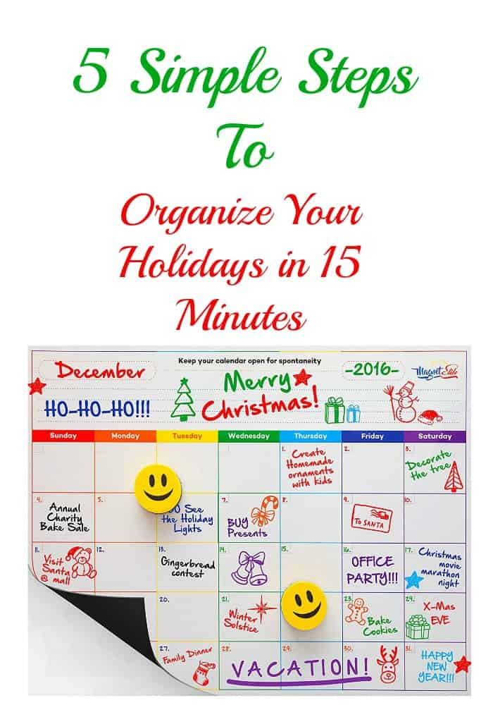 Organize your holiday schedule in 15 mins
