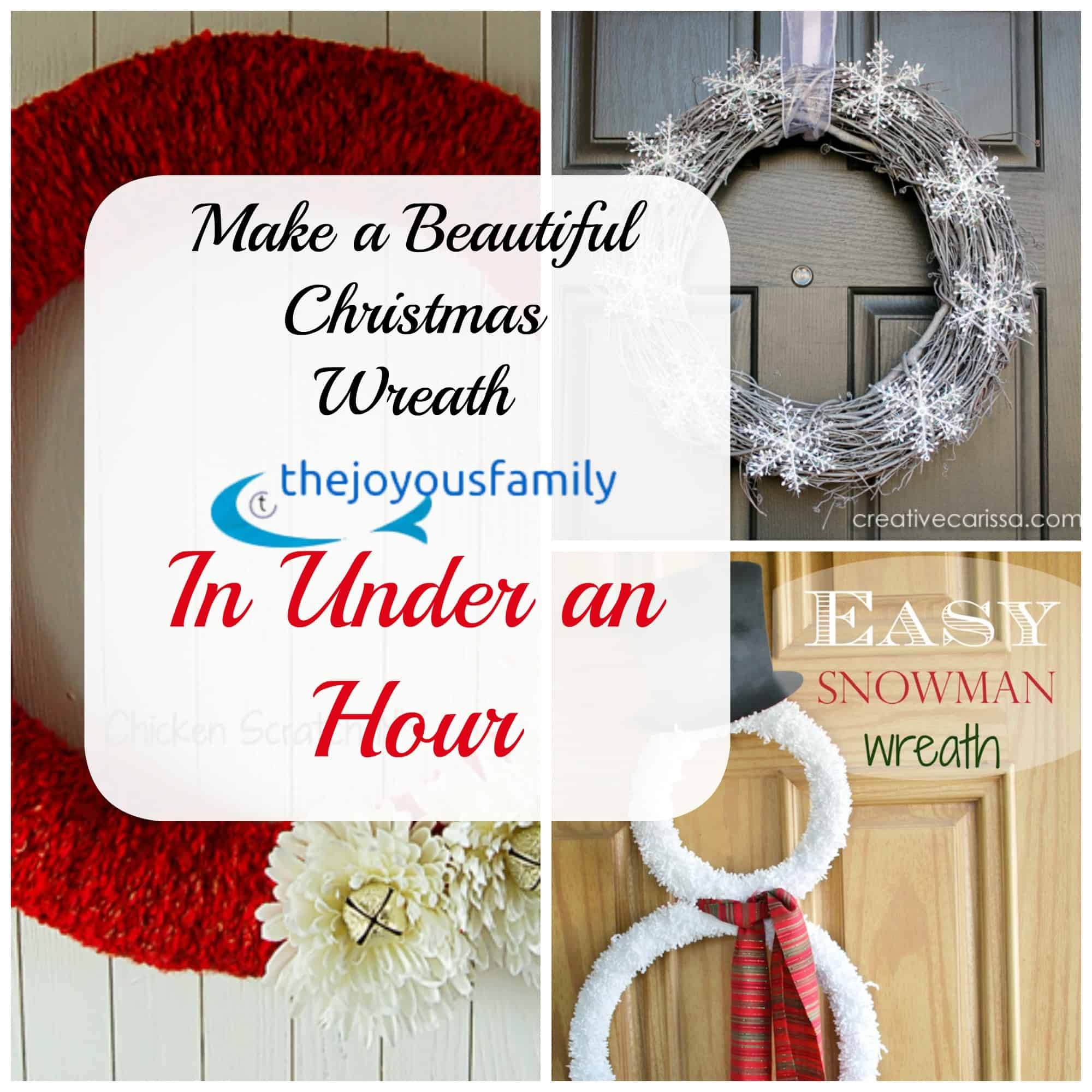 ten simple Christmas Wreaths less than an Hour only $5 to make