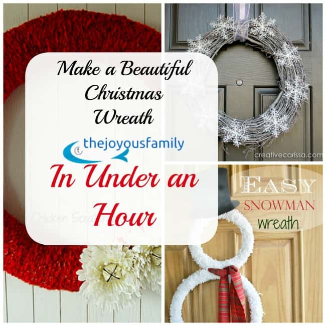 10 Super Simple Christmas Wreaths made in Under an Hour
