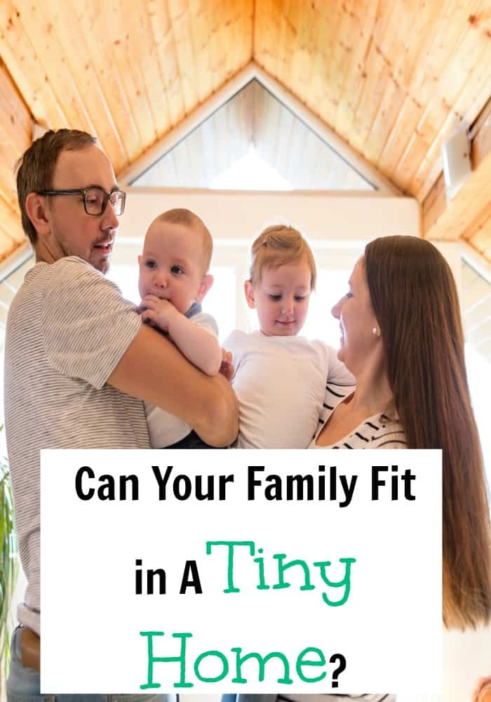 Debt free families living in tiny homes .