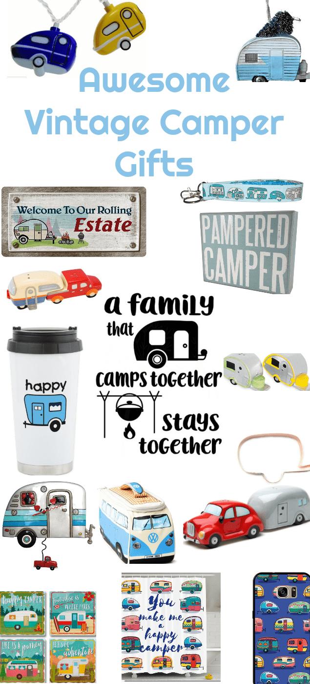 vintage camper, vintage camper gifts, gift ideas, camp , camping, Christmas , travel vacation,