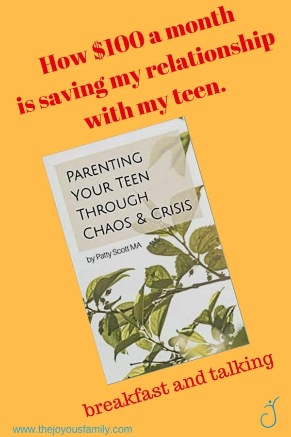 Picture of book with leaves: Parenting your teen through chaos and crisis