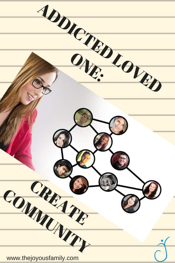 College ruled notebook paper background with a woman looking at a network of people in circles connected by lines.